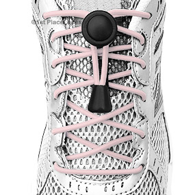 Light Pink elastic no tie locking shoelaces