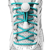 Teal Blue elastic no tie locking shoelaces
