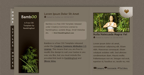 bamboo-xhtml-css-template