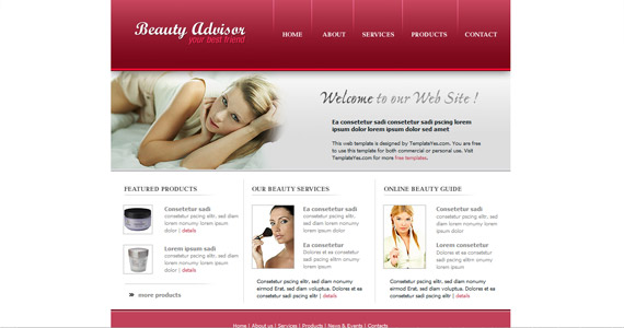 beauty-advisor-xhtml-css-template