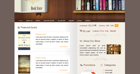 book-store-xhtml-css-template