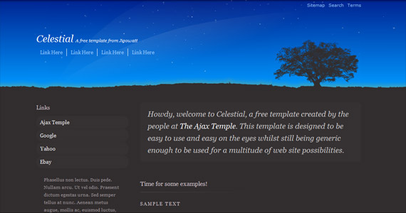 celestial-xhtml-css-template