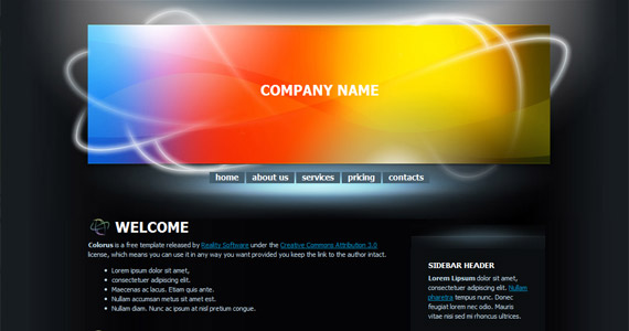 colorus-xhtml-css-template