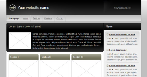 darkside-xhtml-css-template