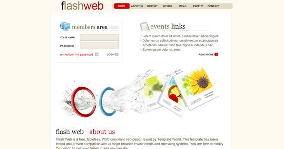 flashweb-css-xhtml-template