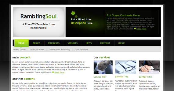 green-rambling-soul-xhtml-css-template