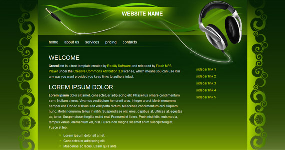 greenfest-xhtml-css-template