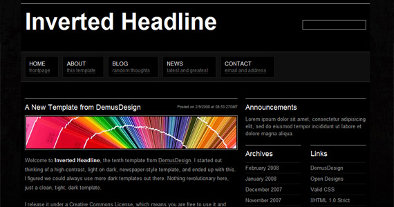 headline-xhtml-css-template
