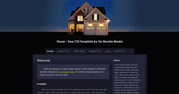 home-xhtml-css-template