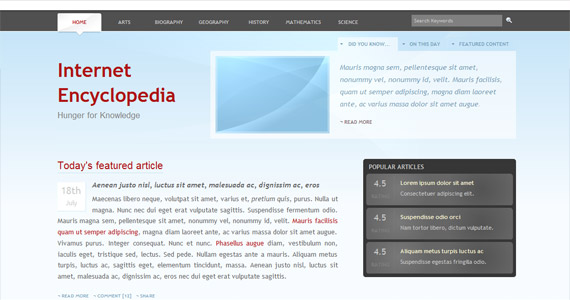 internet-xhtml-css-template