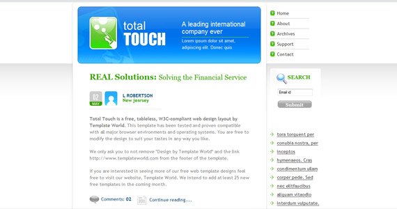 total-touch-xhtml-css-template
