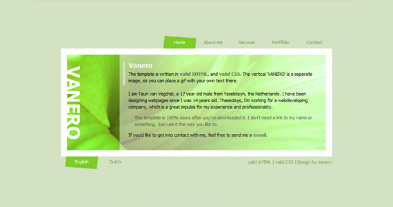 vanero-xhtml-css-template