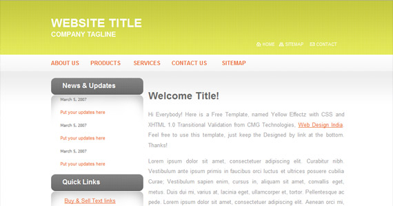 yellow-effects-xhtml-css-template