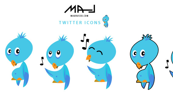 flickr-twitter-bird-icon-set