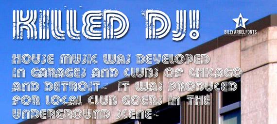 killed-dj-free-grunge-fonts