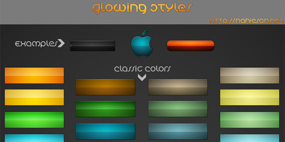 glowing-styles-webdesign-psd-free-buttons-icons