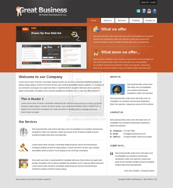 Great-business-web-design-interface-inspiration-deviantart