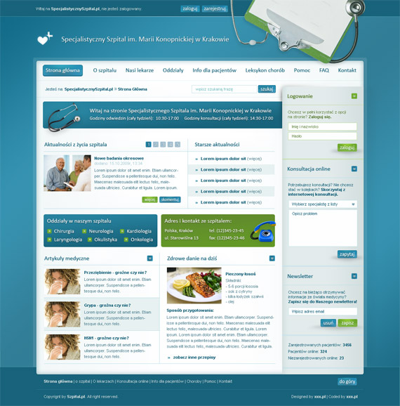 Szpital-web-design-interface-inspiration-deviantart