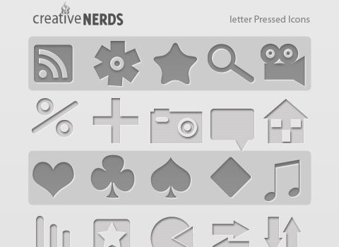 Letter-pressed-icons-for-minimal-style-web-designs
