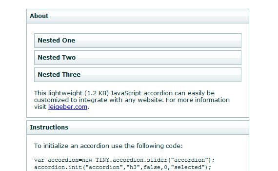 Tiny-javascript-jquery-accordion-menus-resources-tutorials-examples