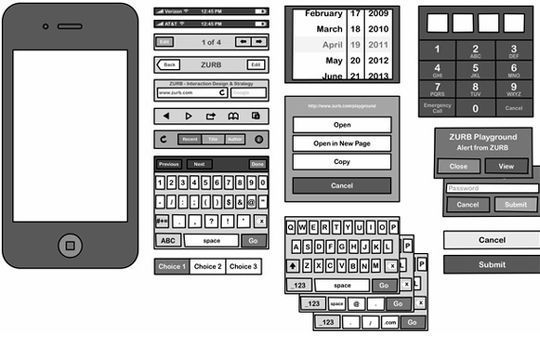 Full Set of Stencils for Sketching iPhone, iPad & Android