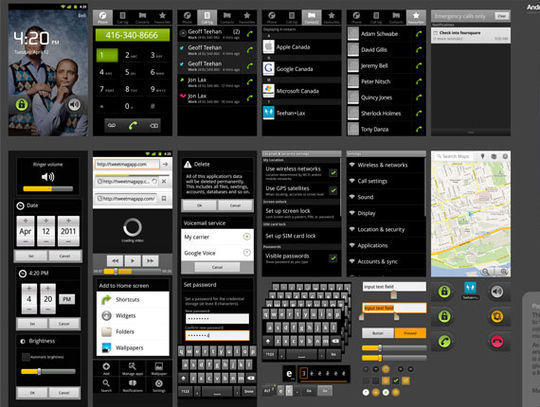 Android GUI PSD (High-Density)
