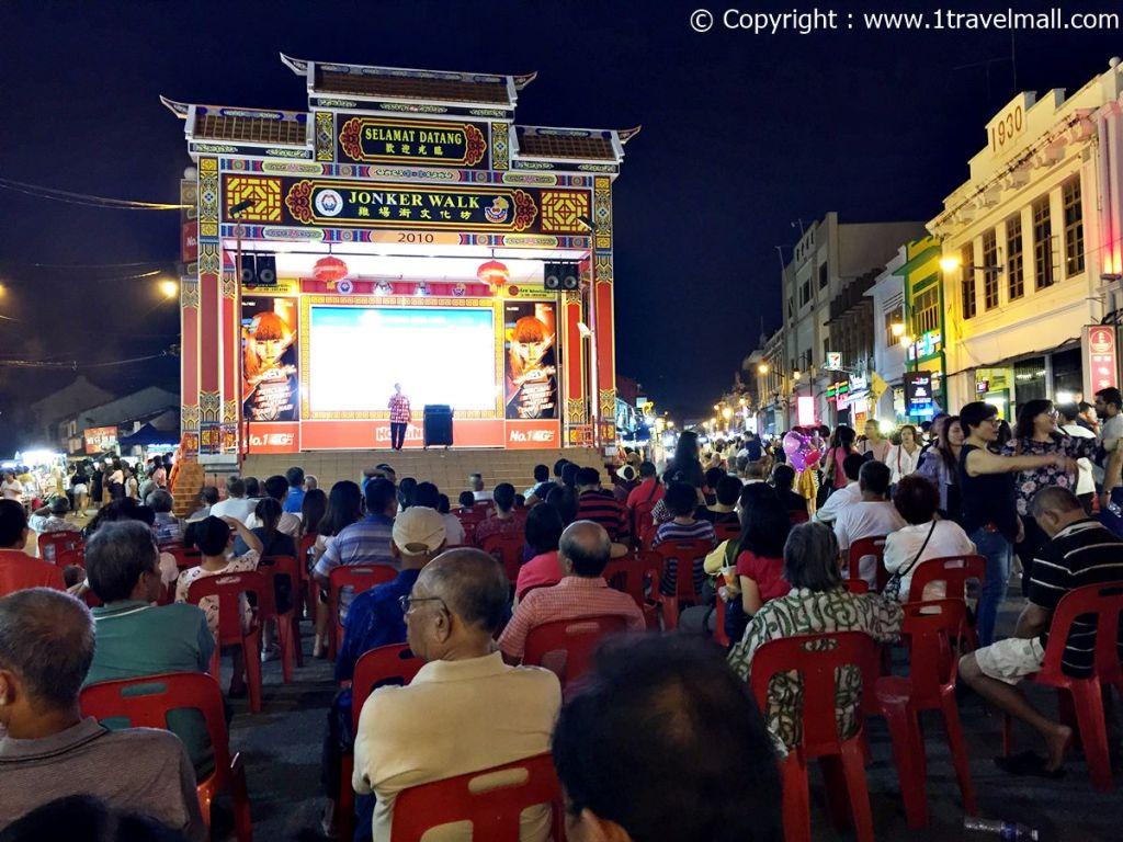 Jonker Street Night Market Melaka mini concert