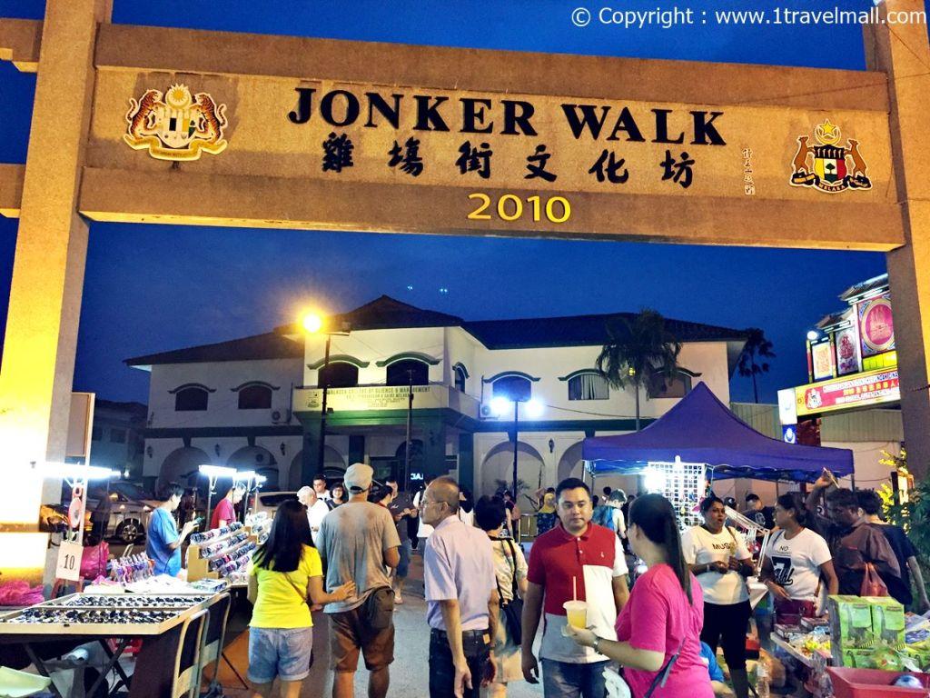 Jonker Street Night Market Melaka sign