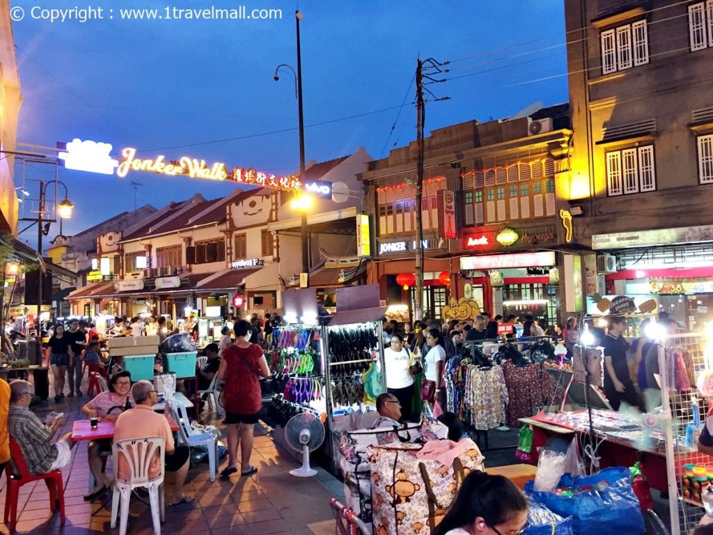 Jonker Street Night Market Melaka stalls