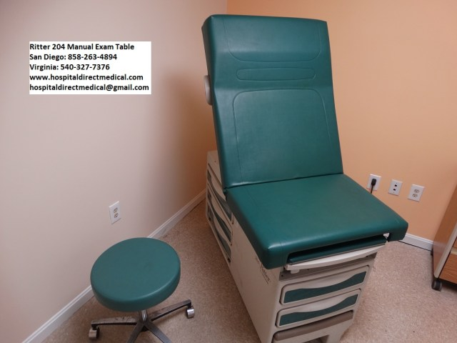 Ritter 204 Exam Table Used Hospital Medical Equipment