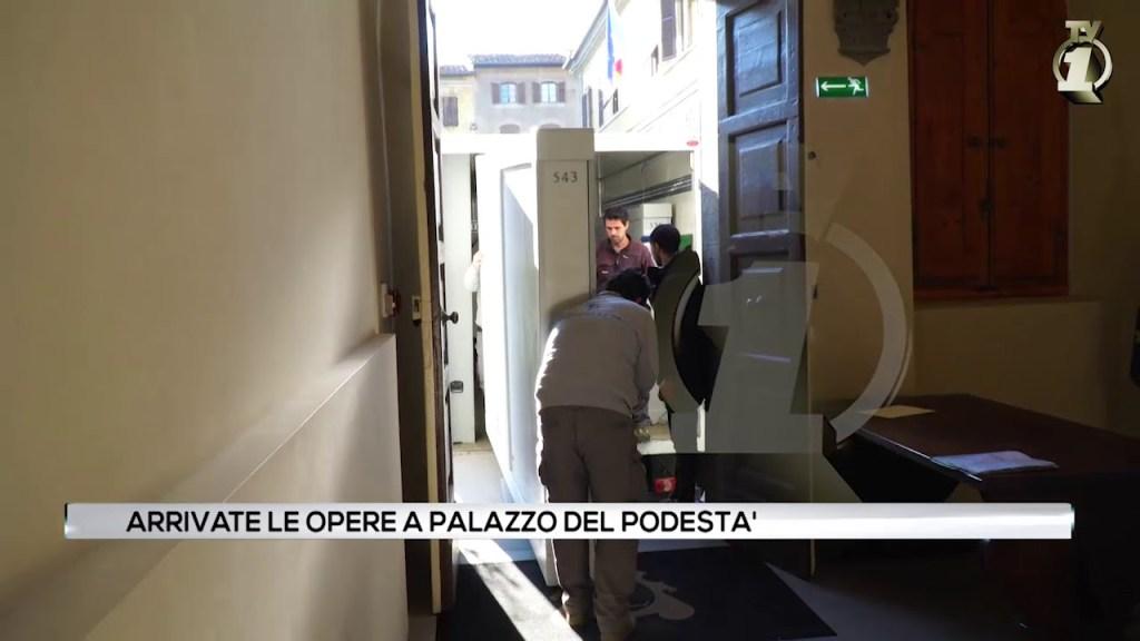La Pala del Botticelli arrivata a Montevarchi