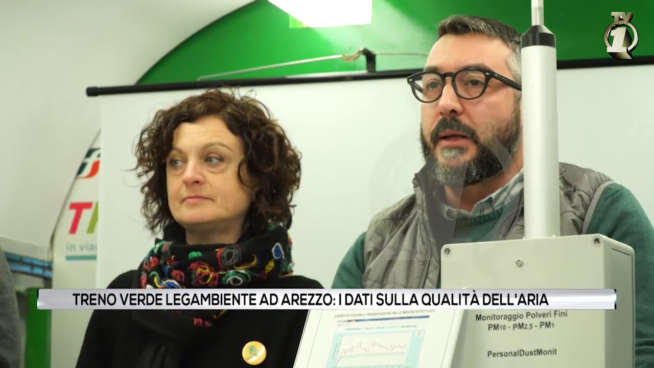 """Il """"Treno verde"""" di Legambiente ad Arezzo"""