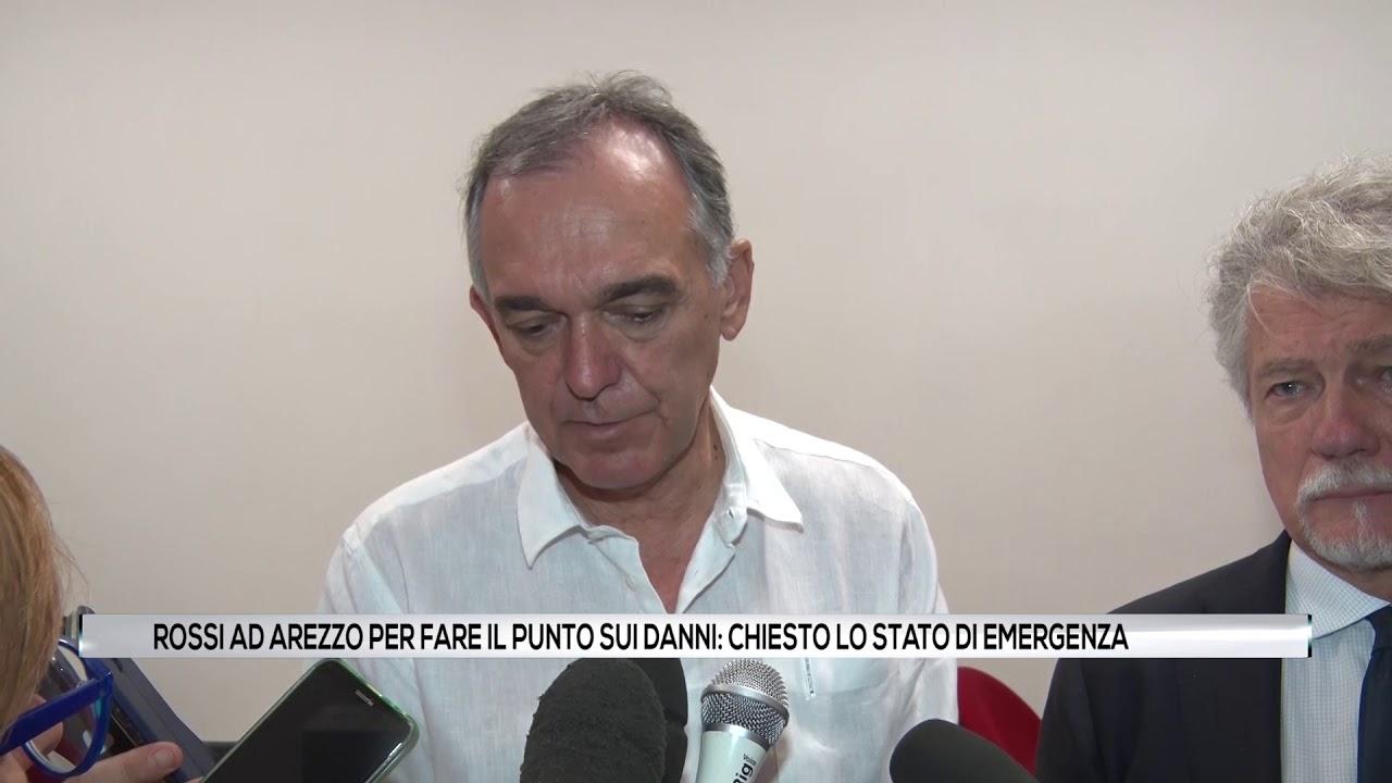 Rossi ad Arezzo per fare il punto sui danni causati dal maltempo