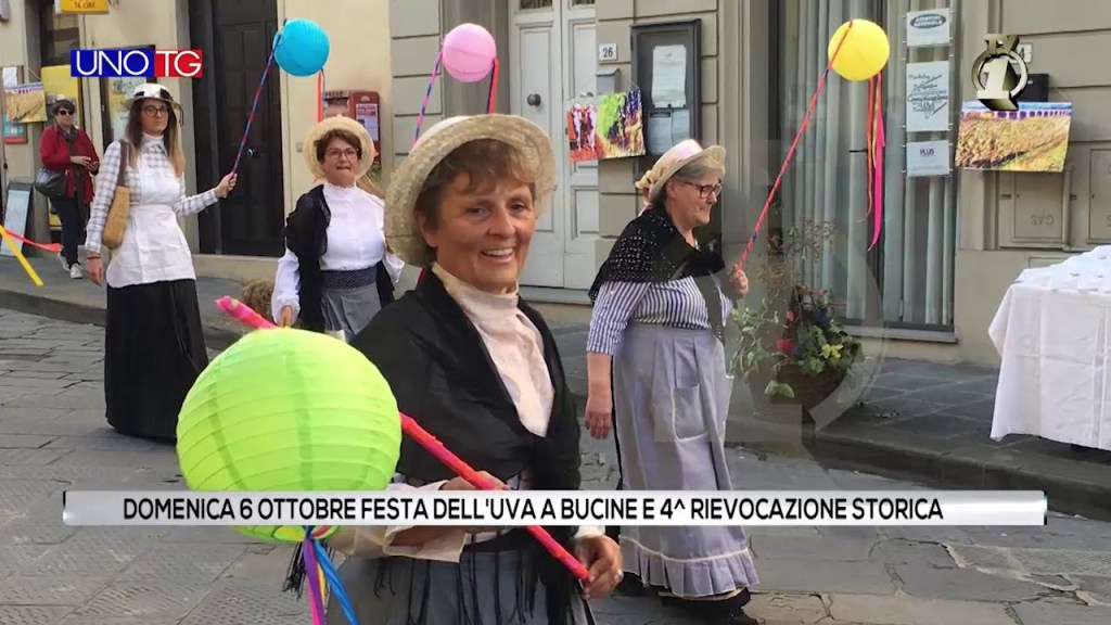 """Domenica 6 ottobre la """"Festa dell'uva"""" a Bucine"""