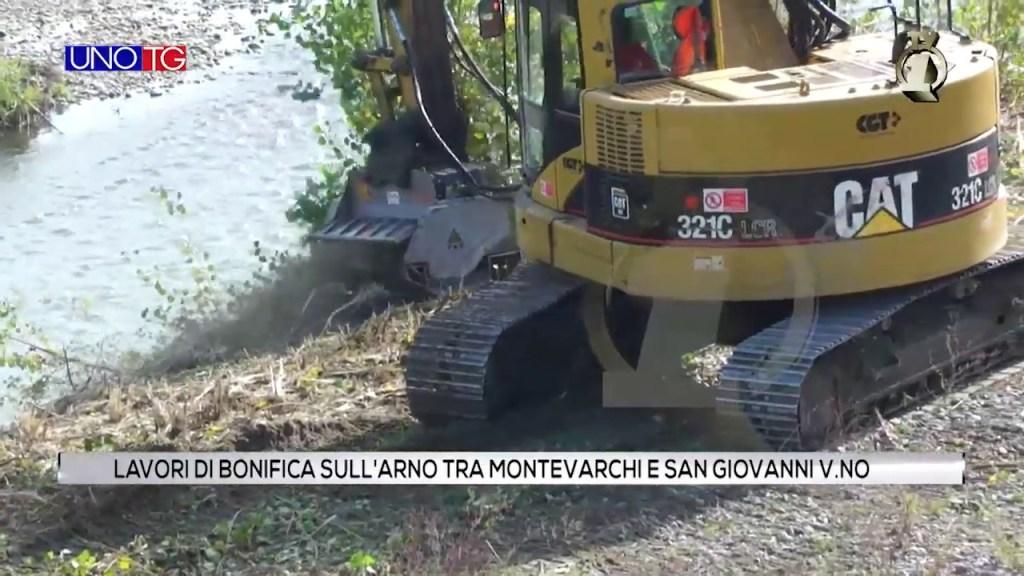 Lavori di bonifica sull'Arno tra Montevarchi e San Giovanni V.no