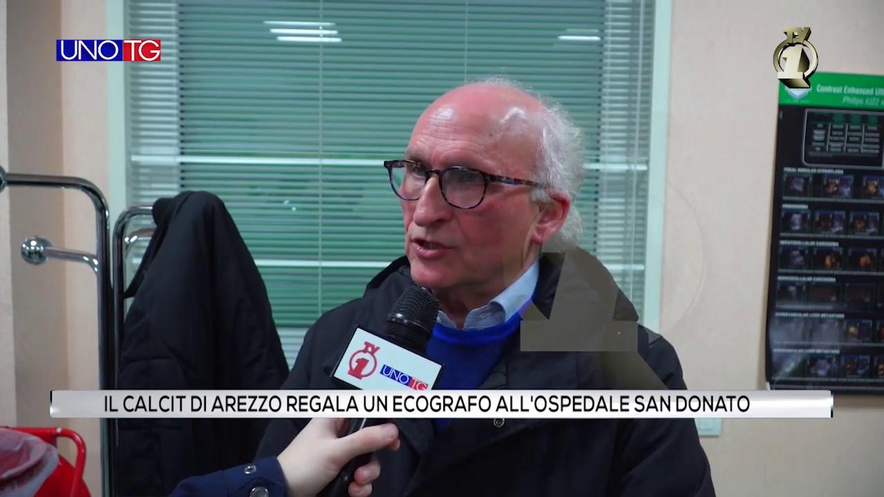 Il Calcit di Arezzo dona un ecografo all'ospedale San Donato