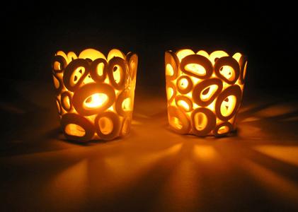 Lysestager i porcelæn