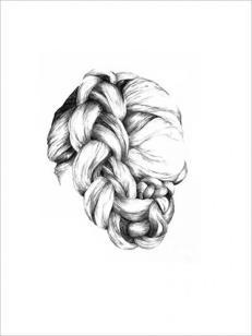 Kvindeligt hår print