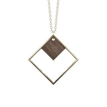 Halskæde - INDIREKTE OBJEKT Dark wood + Gold