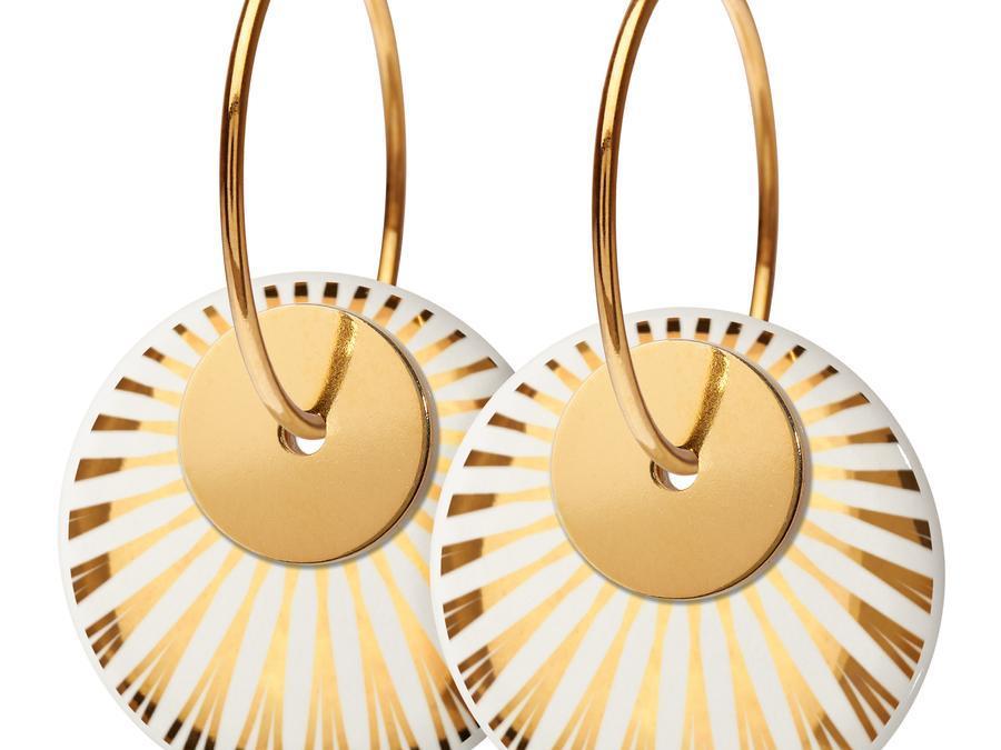 SPLASH duo øreringe fra Scherning- GOLD