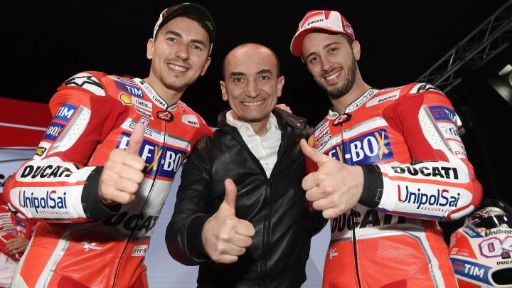 Presentato il Ducati Team 2017 all'Auditorium Ducati di Bologna