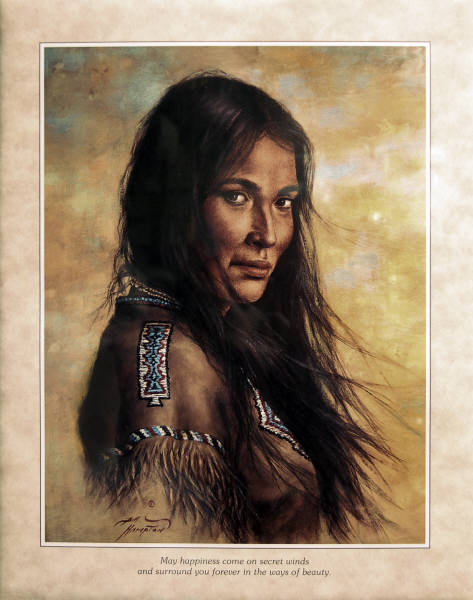 Leanin Tree 16 X 20 Poster SKP541 Indian Maiden By Bill