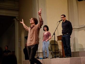 Eddie Hopely, Sara Wintz, Rodrigo Toscano