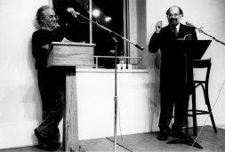 Nicanor Parra & Allen Ginsberg - Photo credit: Vivian Selbo, 1987