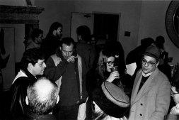 Don Yorty, Atticus Fierman, Bernadette Mayer, Charles Bernstein - Photo credit: Jacob Burckhardt, 1993