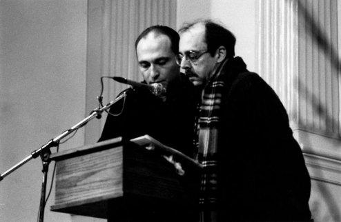 Richard Foreman & Ron Vawter - Photo credit: Jacob Burckhardt, 1990
