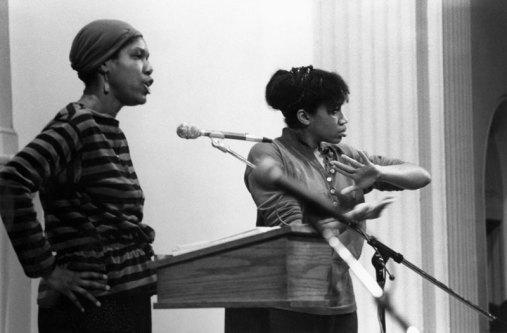 Robbie McCauley (right), Photo credit: Jacob Burckhardt, 1991