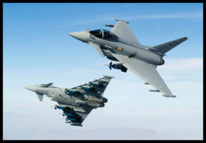 Eurofighter Typhoon - Military air-to-air photography