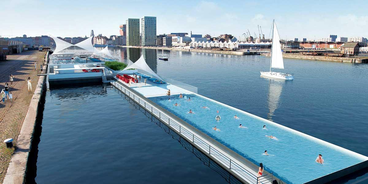Zwembad buiten 2022 almere weerwater for Zwembad belgie
