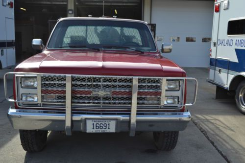 Purchase Used 1985 Chevy Ck20 Brush Fire Truck 4x4 In